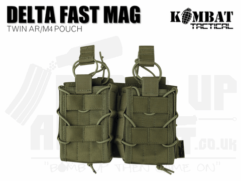 Kombat UK Delta Double Fast Mag Pouch - Tan