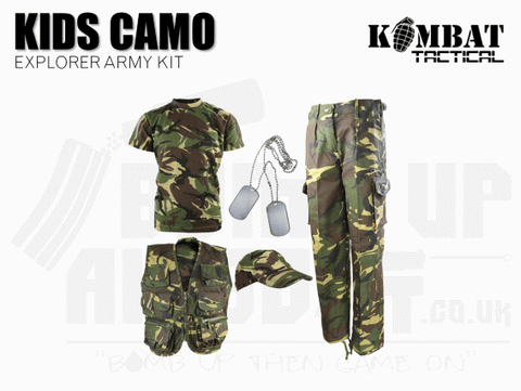 Kombat UK Kids Camouflage Explorer Army Kit - DPM