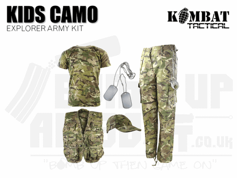 Kombat UK Kids Camouflage Explorer Army Kit - MTP