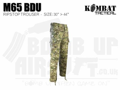 Kombat UK M65 BDU Ripstop Trousers - MTP