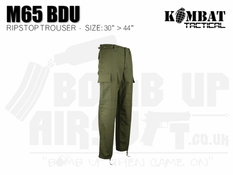 Kombat UK M65 BDU Ripstop Trousers - OD Green