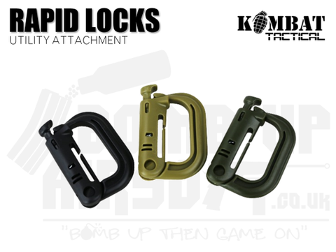 Kombat UK Rapid Locks - Black