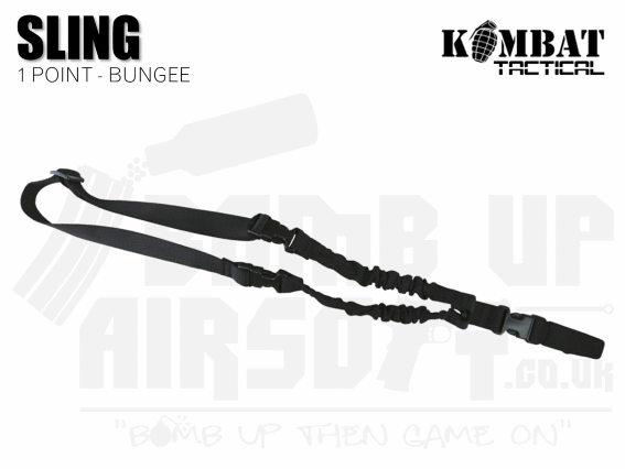 Kombat UK Single Point Bungee Sling - Black