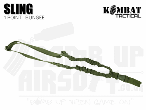 Kombat UK Single Point Bungee Sling - OD Green