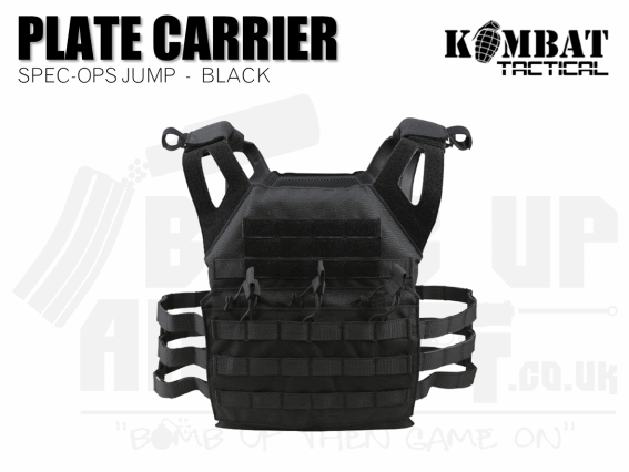 Kombat UK Spec Ops Jump Plate Carrier - Black