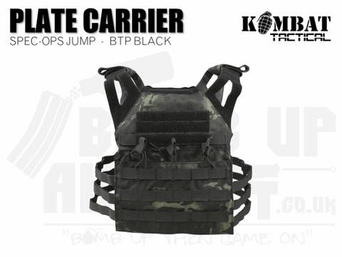 Kombat UK Spec Ops Jump Plate Carrier - BTP Black