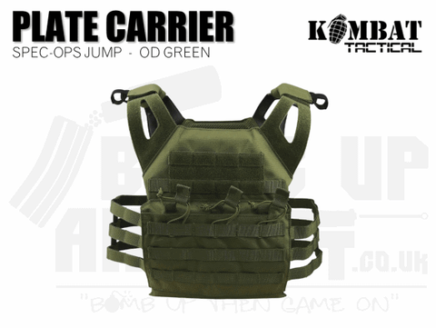 Kombat UK Spec Ops Jump Plate Carrier - OD Green