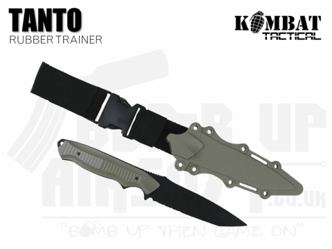 Kombat UK Tanto Plastic Airsoft Knife - Black and Tan