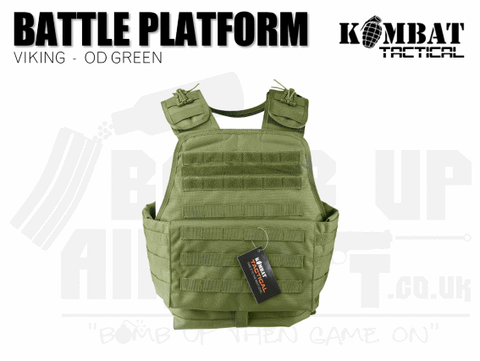 Kombat UK Viking Molle Battle Platform - OD Green