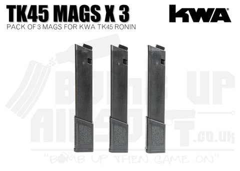KWA TK45 Ronin Series Magazine - 3 Pack - 120 Rounds