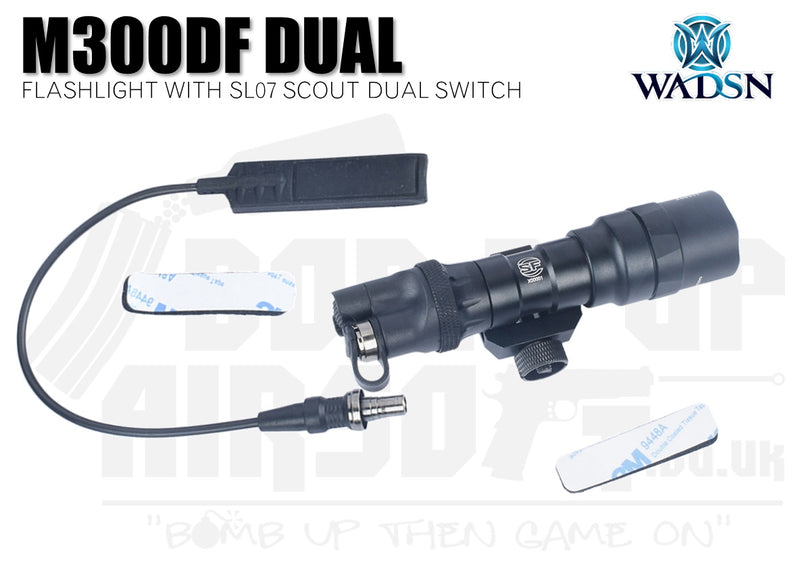 WADSN M300DF Flashlight With SL07 Scout Dual Switch - Short