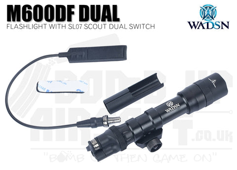 WADSN M600DF Flashlight With SL07 Scout Dual Switch - Long