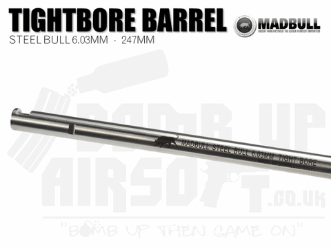 Madbull Stainless Steel Tight Bore 6.03mm Barrel - 247mm
