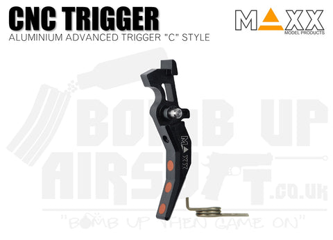 Maxx Model Aluminium Advanced (Style C) CNC Trigger - Black