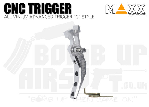 Maxx Model Aluminium Advanced (Style C) CNC Trigger - Silver
