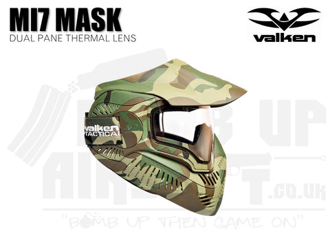 Valken MI-7 Goggle/Mask with Dual Pane Thermal Lens - Woodland