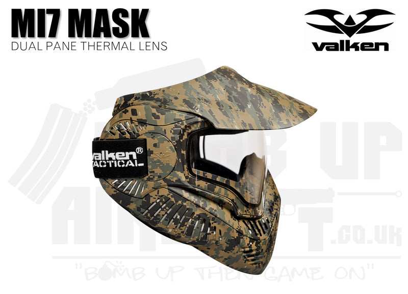 Valken MI-7 Goggle/Mask with Dual Pane Thermal Lens - Marpat