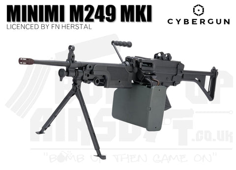 Cybergun FN Herstal M249 MK1 Airsoft Gun With Sound Control Drum Mag