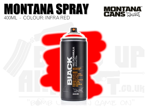 Montana Cans Spray Paint 400ml - INFRA RED