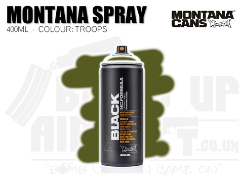 Montana Cans Spray Paint 400ml - TROOPS