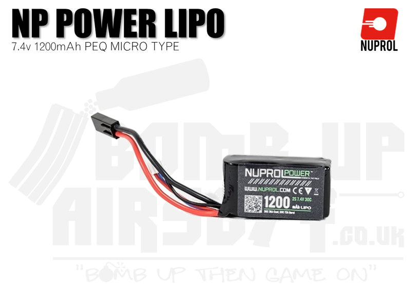 Nuprol NP Power LiPo Battery 1200mah 7.4v 30c PEQ (8058) - Tamiya