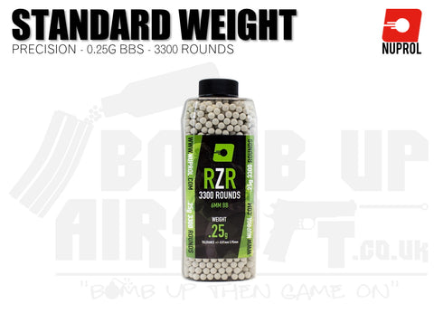Nuprol RZR Precision BB's 0.25g - 3300 Rounds