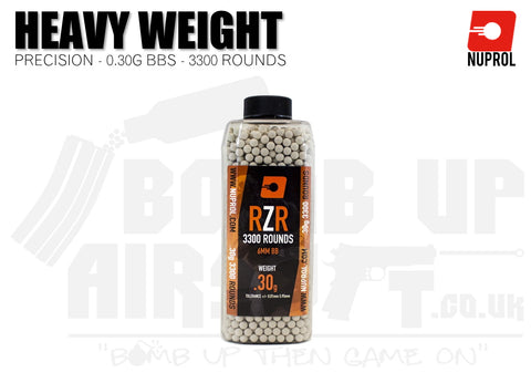 Nuprol RZR Precision BB's 0.30g - 3300 Rounds