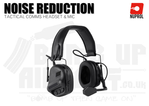 Nuprol Tactical Comms Headset NR - Black