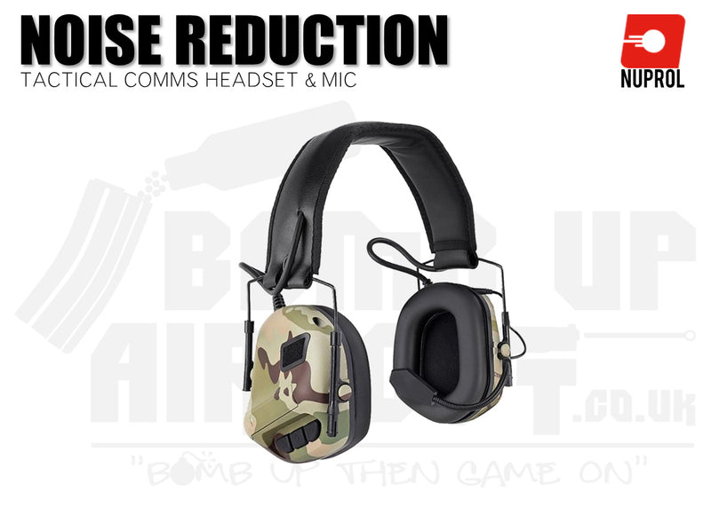 Nuprol Tactical Comms Headset NR - Camo