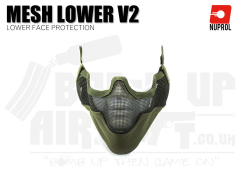 Nuprol Mesh Lower Face Mask V2 - OD Green