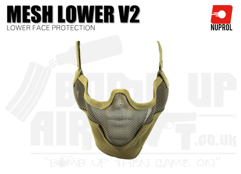 Nuprol Mesh Lower Face Mask V2 - Tan