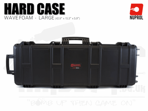 Nuprol Large Hard Case (Wave Foam) - Black