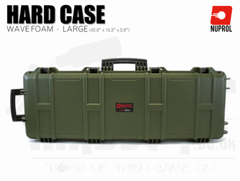 Nuprol Large Hard Case (Wave Foam) - Green