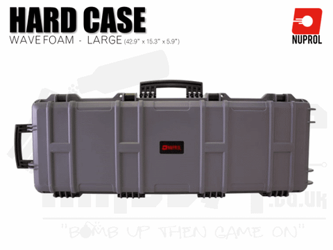 Nuprol Large Hard Case (Wave Foam) - Grey