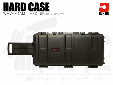 Nuprol Medium Hard Case (Wave Foam) - Black