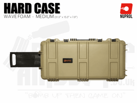 Nuprol Medium Hard Case (Wave Foam) - Tan