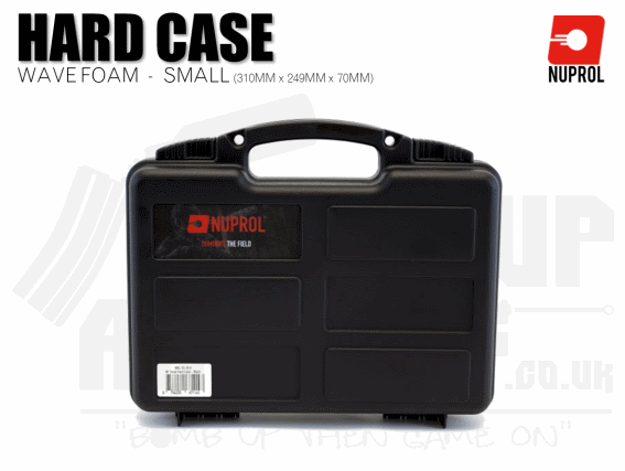 Nuprol Small Hard Case (Wave Foam) - Black