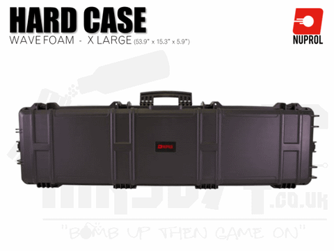 Nuprol Extra Large Hard Case (Wave Foam) - Black