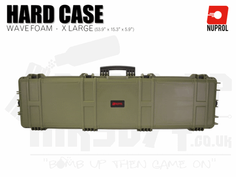 Nuprol Extra Large Hard Case (Wave Foam) - Green