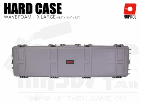 Nuprol Extra Large Hard Case (Wave Foam) - Grey