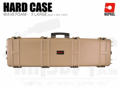 Nuprol Extra Large Hard Case (Wave Foam) - Tan