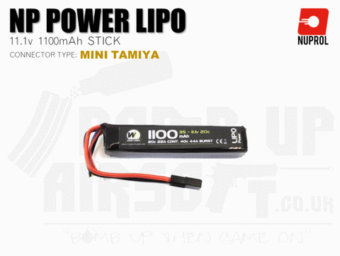 Nuprol NP Power LiPo Battery 1100mah 11.1v 20c Stick (8055)