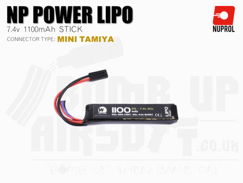 Nuprol NP Power LiPo Battery 1100mah 7.4v 20c Stick (8050)