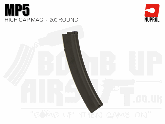 Nuprol MP5 High Cap Mag 200 Rounds