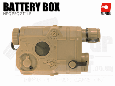 Nuprol NPQ PEQ Style Battery Box - Tan