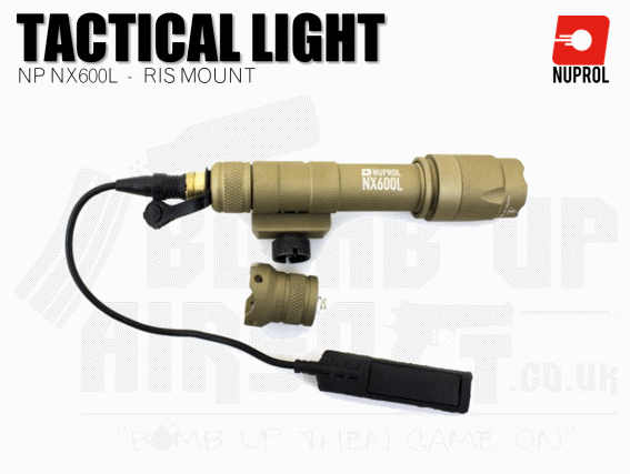 Nuprol NX600L RIS Mounted Rifle Torch - Tan