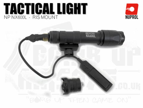 Nuprol NX600L RIS Mounted Rifle Torch - Black