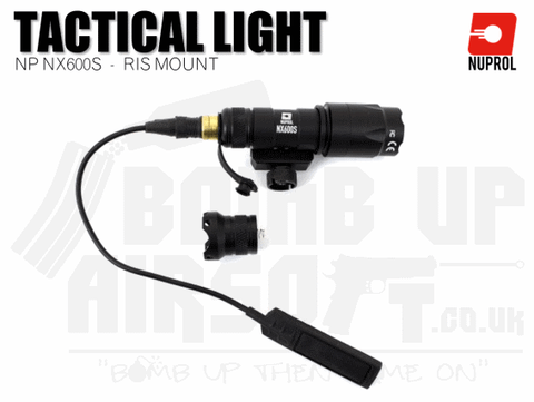 Nuprol NX600S RIS Mounted Rifle Torch - Black