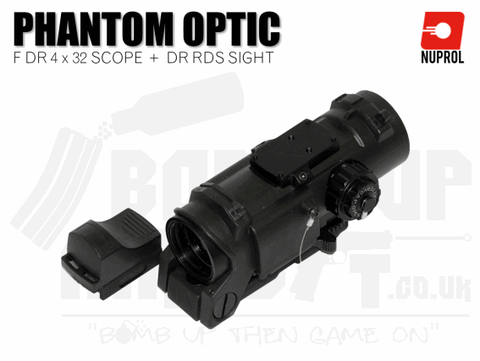 Nuprol Elcan Phantom F DR 4x32 and DR RDS Sight - Black