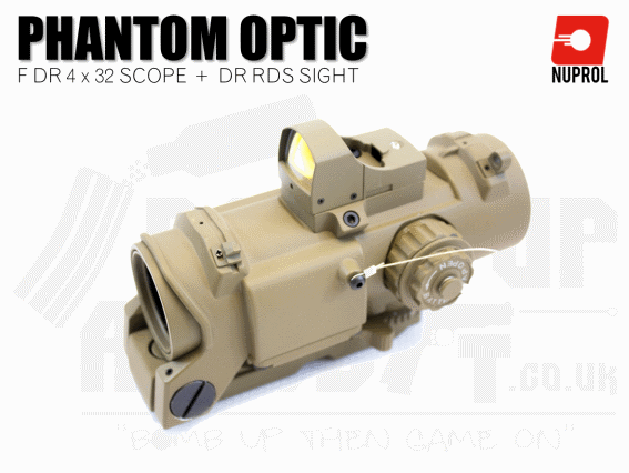 Nuprol Elcan Phantom F DR 4x32 and DR RDS Sight - Tan